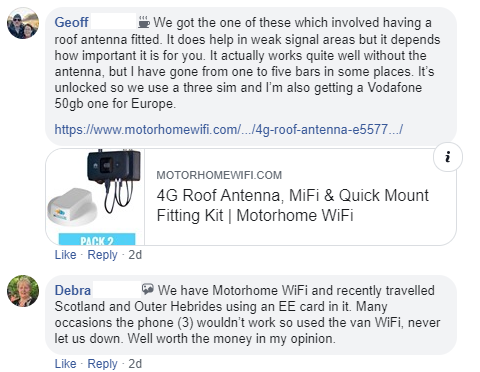 Testimonials, Reviews & Customer Stories | Motorhome WiFi